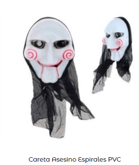 Disfraz saw halloween máscara