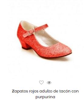Disfraz saw halloween mujer zapatos rojos