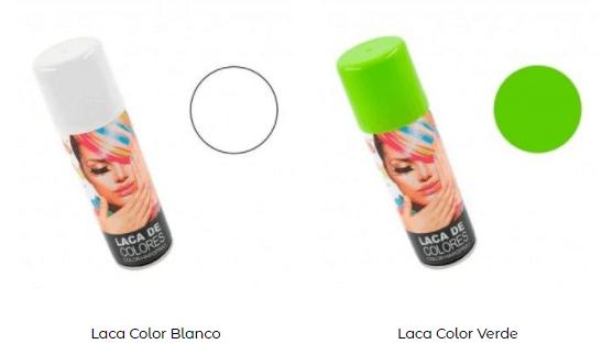 Maquillaje Beetlejuice laca pelo