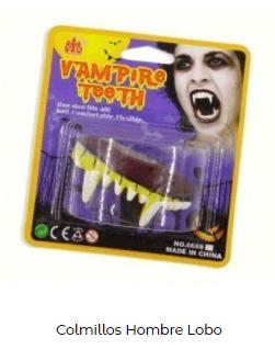 Colmillos dientes disfraz de vampiro y vampiresa Halloween
