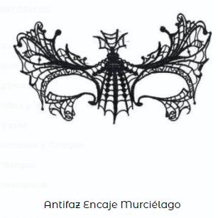 Complementos disfraz vampiro antifaz murciélago