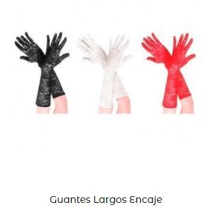 Complementos disfraz vampiro guantes encaje largos