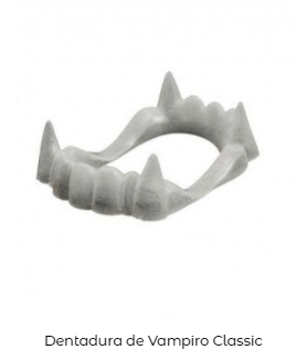 Dentadura disfraz de vampiro y vampiresa Halloween