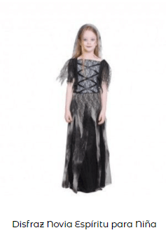 Disfraz Frankenstein chica niña novia