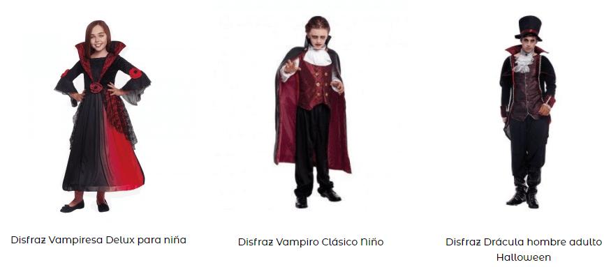 Disfraz de vampiro y vampiresa
