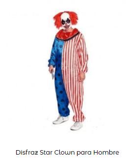Mascarillas con dibujos Halloween payaso terrorífico bufon