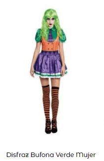 Mascarillas con dibujos Halloween Joker disfraz mujer