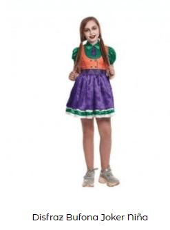 Mascarillas con dibujos Halloween Joker disfraz niña