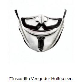 Mascarillas con dibujos Halloween V Vendetta