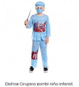 Mascarillas con dibujos Halloween sonrisa cosida disfraz cirujano