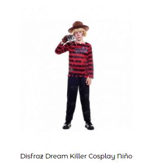 Mascarillas con dibujos Halloween sonrisa cosida disfraz Freddy Krueger