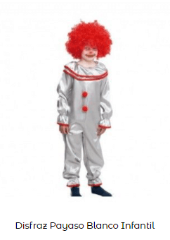 Mascarillas con dibujos Halloween payaso terrorífico disfraz