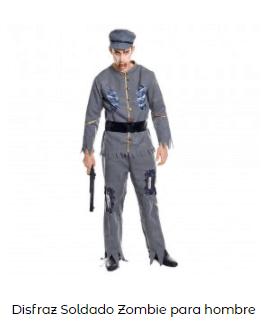 Mascarillas con dibujos Halloween sonrisa cosida disfraz soldado