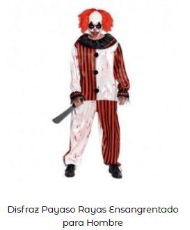 Mascarillas con dibujos Halloween payaso terrorífico