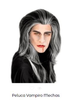 Peluca disfraz vampiro CASERO