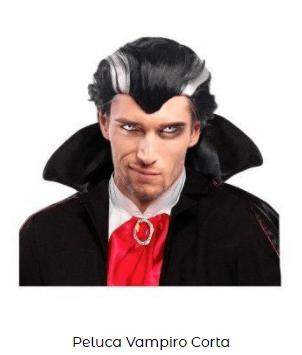 Peluca disfraz de vampiro clásica hombre