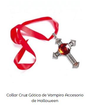colgante disfraz de vampiro cruz
