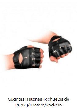 Disfraces Frankenstein guantes rockero chica