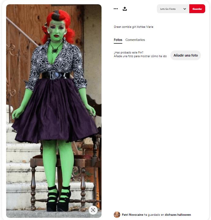 disfraz Frankenstein mujer pin up pelo rojo