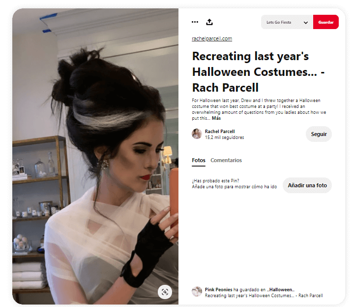disfraz Frankenstein adultos novia pelo clasico