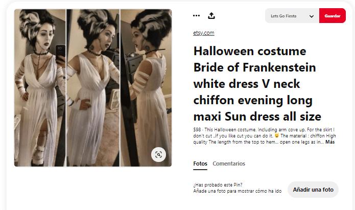 Disfraces Frankenstein para adultos novia