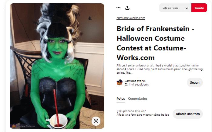 disfraz Frankenstein mujer