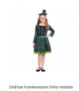 Disfraz de novia Frankenstein chica niña