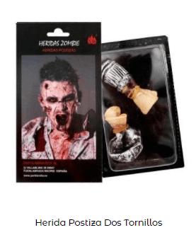 disfraz novia de Frankenstein maquillaje tornillos