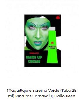 disfraz novia de Frankenstein maquillaje verde base