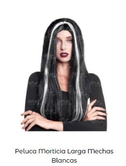 disfraz novia de Frankenstein peluca mechas