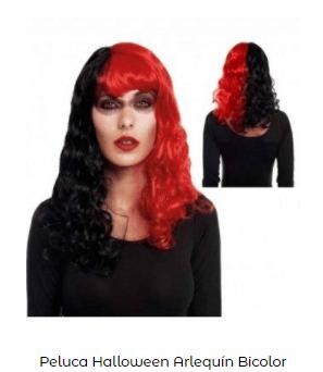 disfraz novia de Frankenstein peluca pin up roja