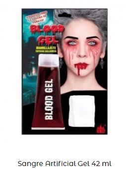 Maquillaje vampiro y vampiresa Halloween sangre artificial