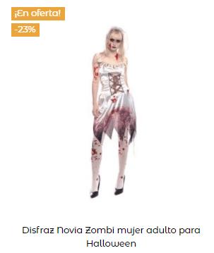 Disfraz Carrie Stephen King fiesta mujer blanco
