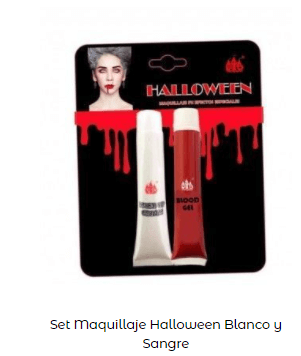 Disfraz Carrie Stephen King sangre maquillaje blanco