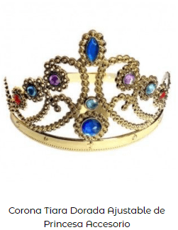 Tiara dorada disfraz Carrie Stephen King