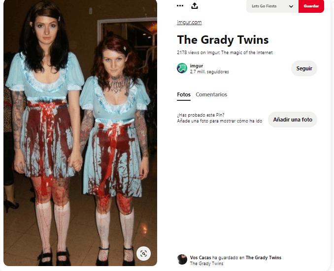 Disfraz El Resplandor Stephen King gemelas sangre