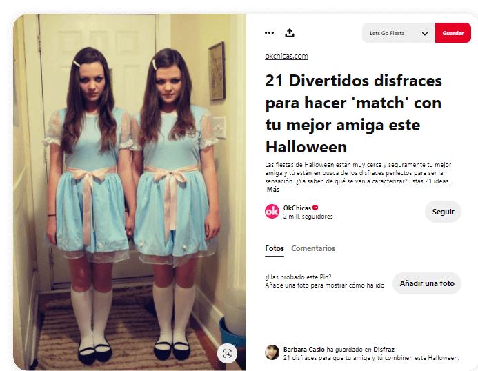 Disfraz El Resplandor Stephen King gemelas