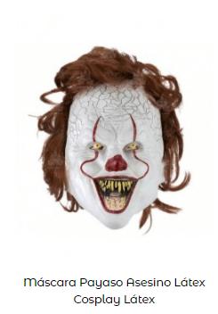 Disfraz IT Stephen King mascara payaso