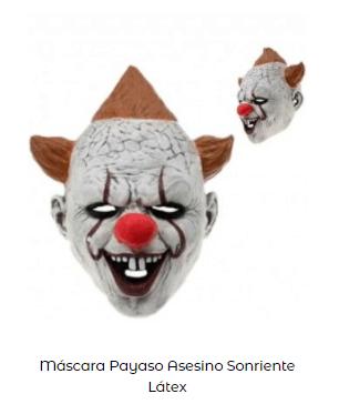 Disfraz IT Stephen King mascara
