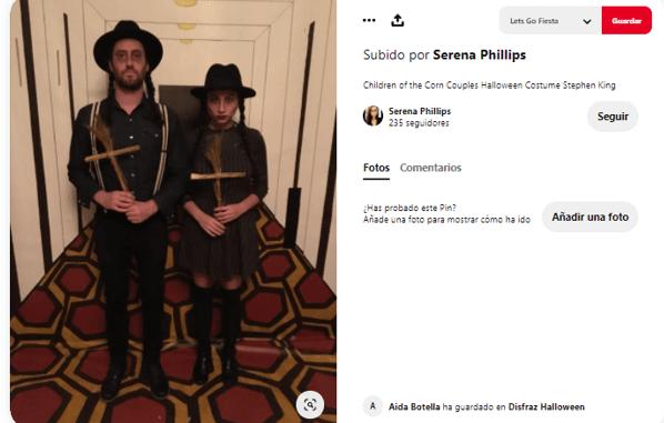 Disfraz casero libros de Stephen King los chicos del maiz cruz