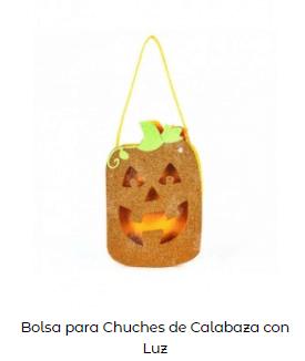Origen Halloween Truco trato bolsa calabaza con luz