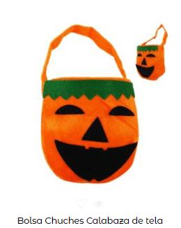 Origen Halloween Truco trato bolsa calabaza tela