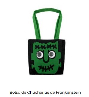 Origen Halloween Truco trato bolsa tela frankenstein