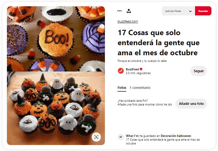origen Halloween truco o trato cupcakes
