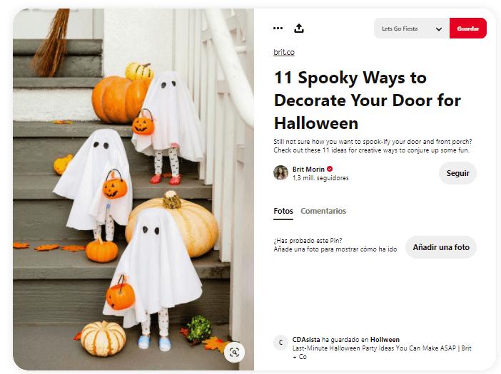 Origen de Halloween Truco o Trato decoracion