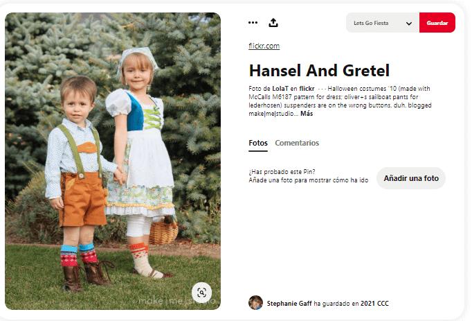 disfraz de Hansel y Gretel para niños