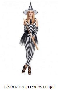 disfraces de bruja mujer original a rayas