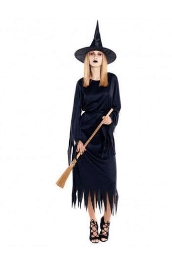 disfraces de bruja mujer clásica negro