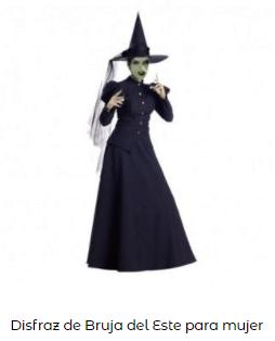 disfraces de bruja mujer del este mago oz