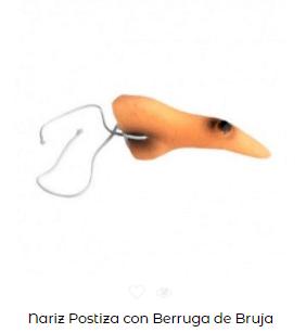 disfraces de bruja nariz postiza
